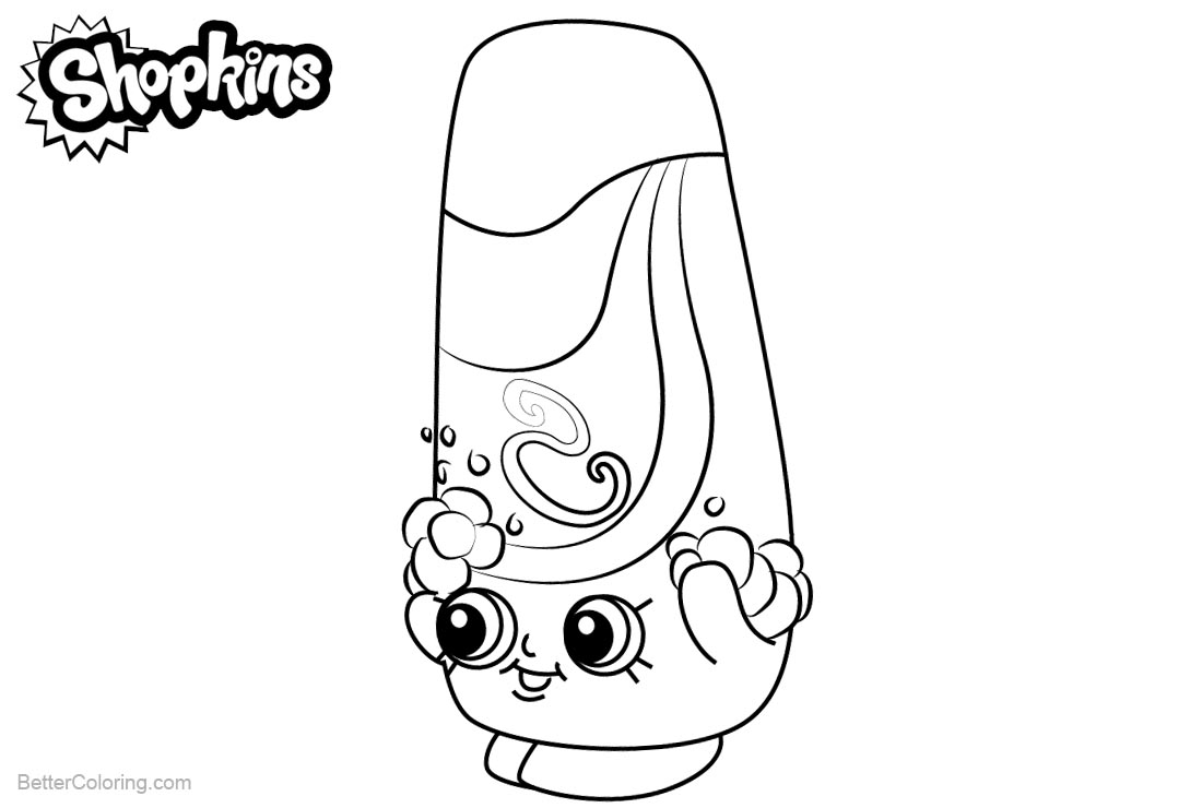 Shopkins Coloring Pages Shampy printable for free