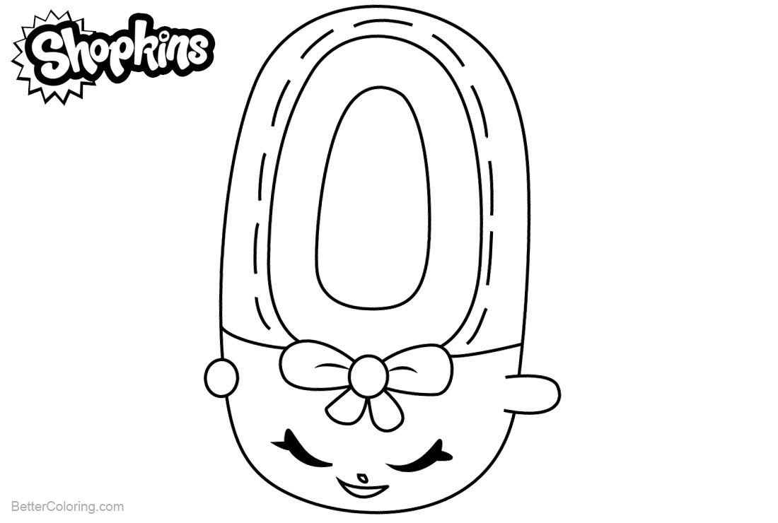 Shopkins Coloring Pages Shoes Anne printable for free