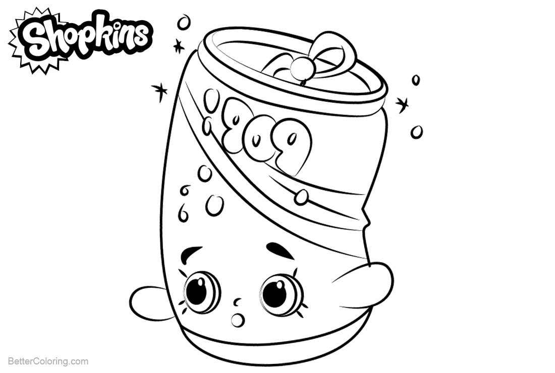 Shopkins Coloring Pages Soda Pops printable for free