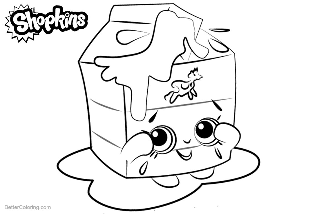 7 Easy Shopkins Coloring Pages Spilled Milk Printable Pdf