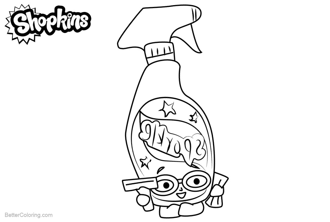Shopkins Coloring Pages Squeaky Clean printable for free