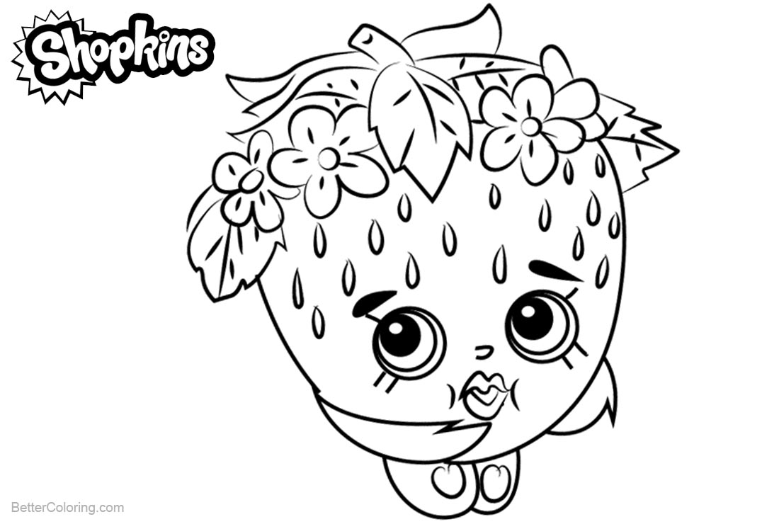 Shopkins Coloring Pages Strawberry Kiss printable for free