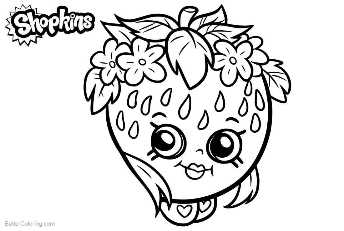 Shopkins Coloring Pages Strawberry