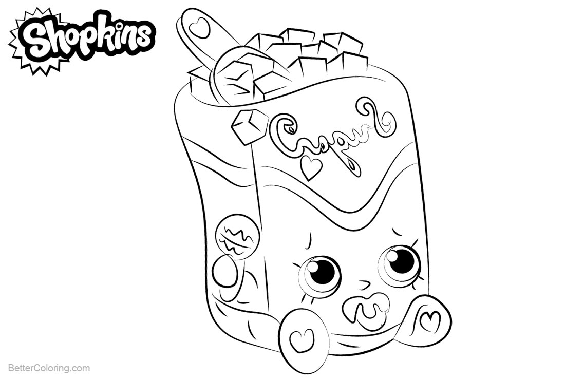 Shopkins Coloring Pages Sugar Lump printable for free