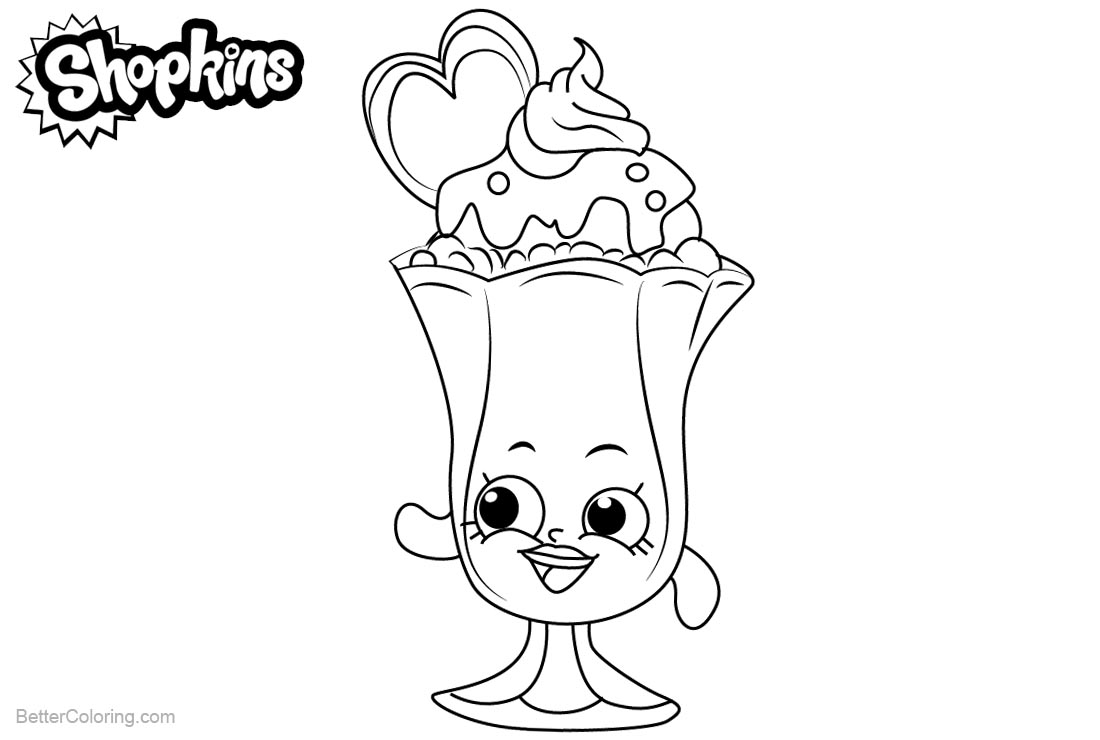 Shopkins Coloring Pages Suzie Sundae Free Printable