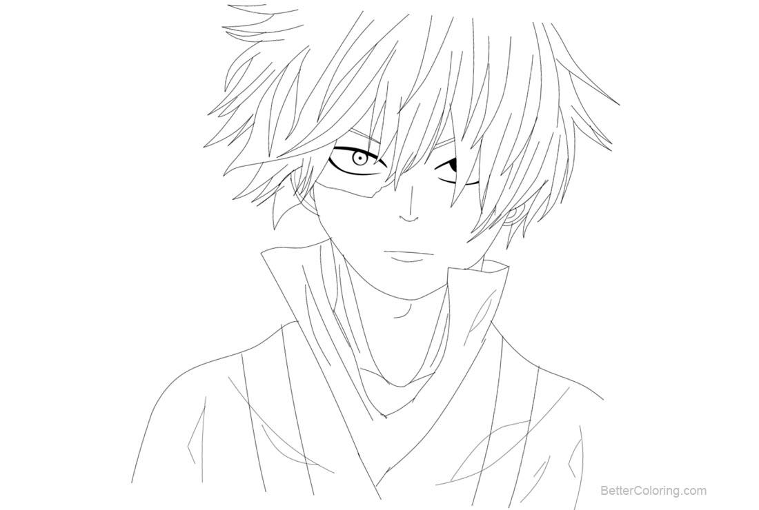 Free Shoto Todoroki from Boku No Hero Academia Coloring Pages by xsilverxbulletx printable