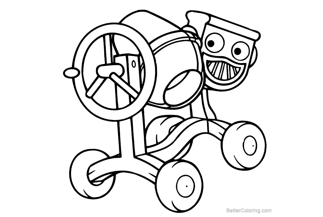 Free Simple Bob The Builder Coloring Pages printable
