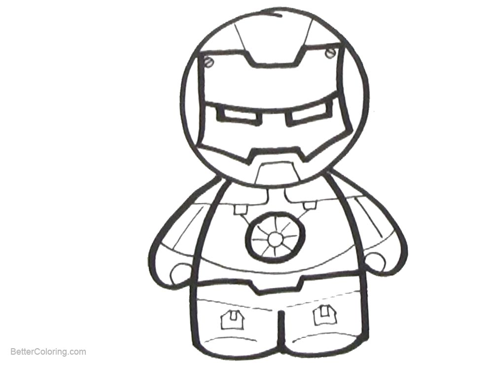 Simple Chibi Iron Man Coloring