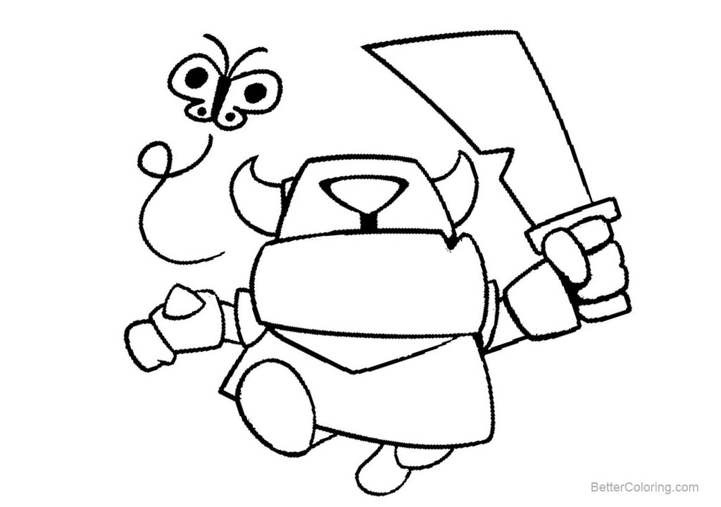 Free Simple Clash Royale Coloring Pages printable