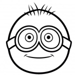 Simple Minion Coloring Pages