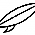 Simple Surfboard Coloring Pages