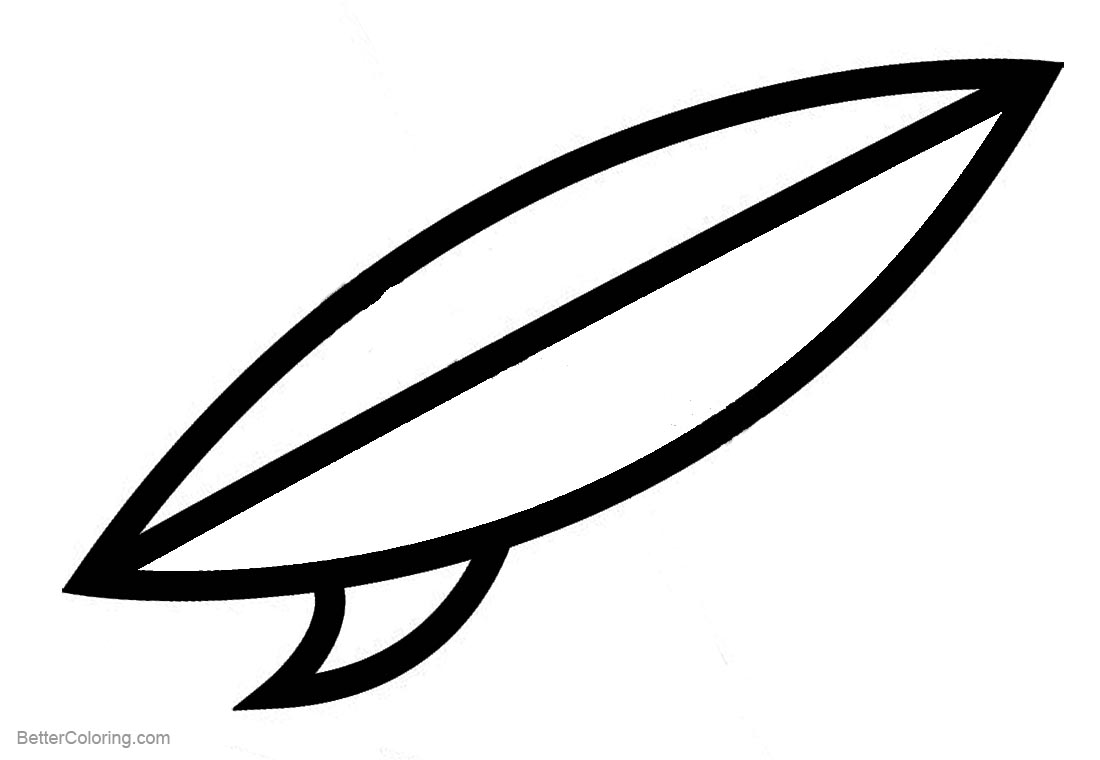 Simple Surfboard Coloring Pages printable for free