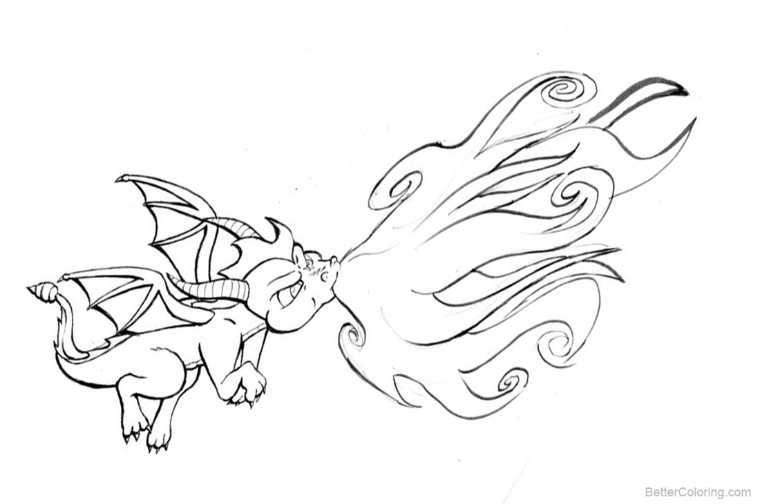 Skylanders Coloring Pages Dragon printable for free