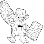 Skylanders Coloring Pages Stump Smash