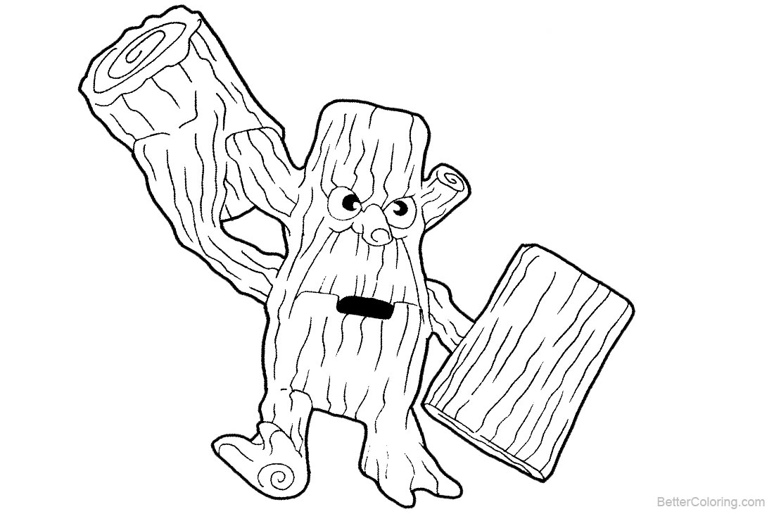 Skylanders Coloring Pages Stump Smash printable for free