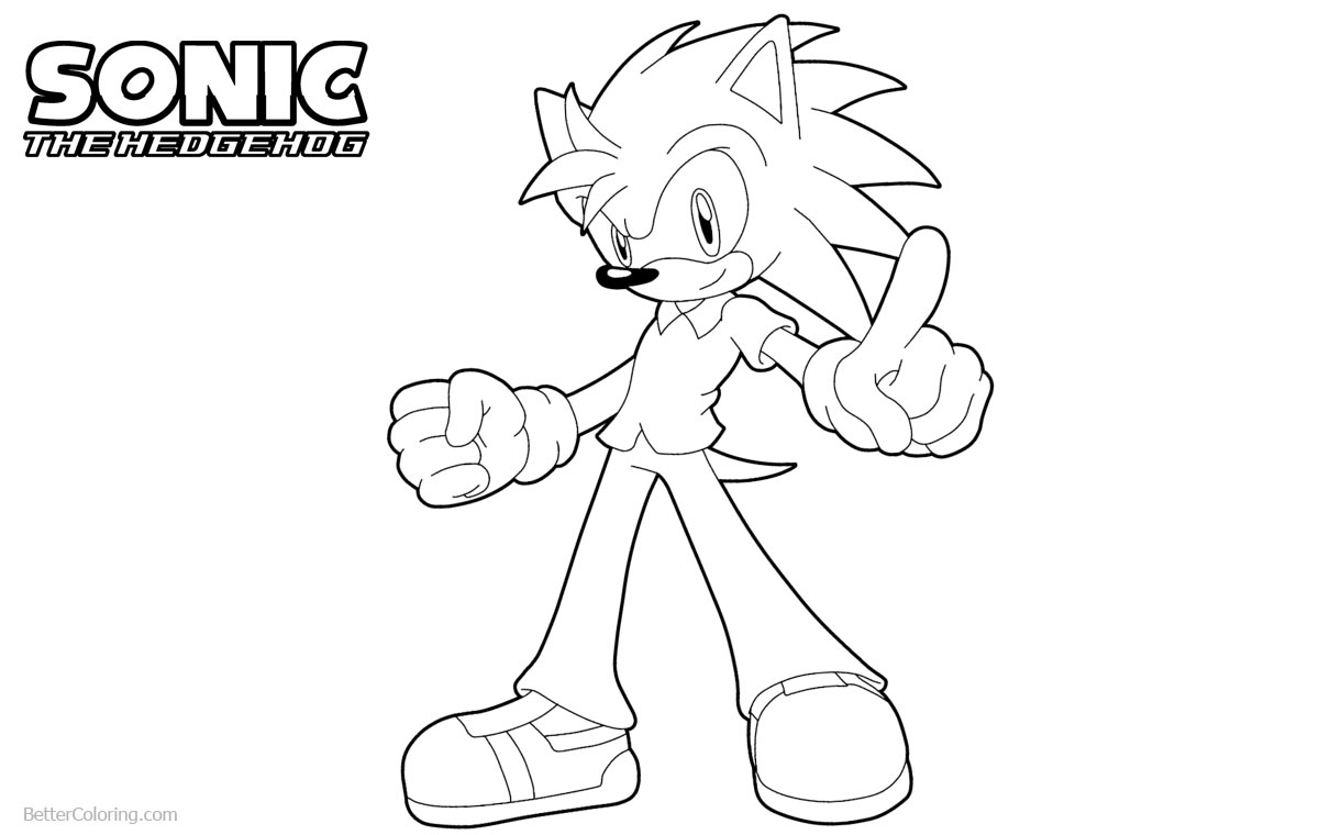 Sonic The Hedgehog Coloring Pages Fan Art by sonicguru printable for free