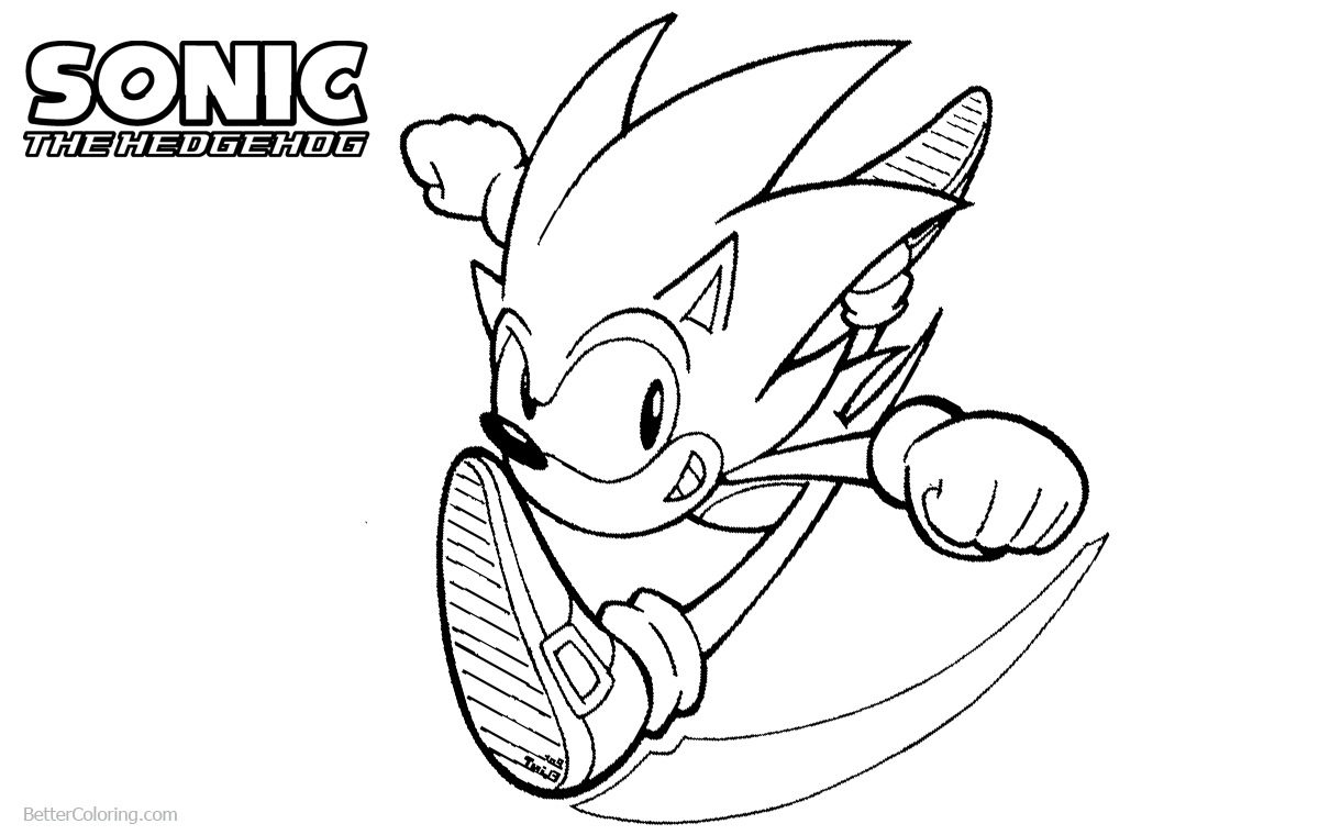 Sonic The Hedgehog Coloring Pages Lineart by flintofmother3 printable for free