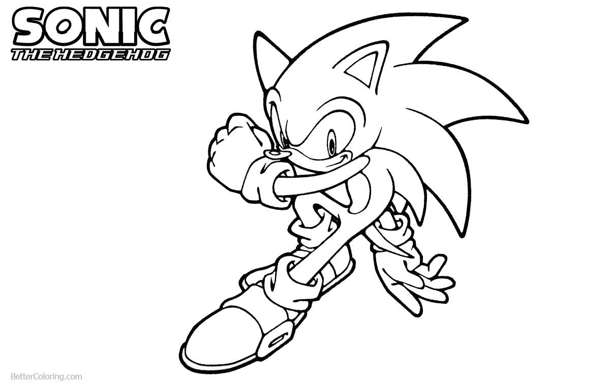Sonic The Hedgehog Coloring Pages Sonic Boom printable for free