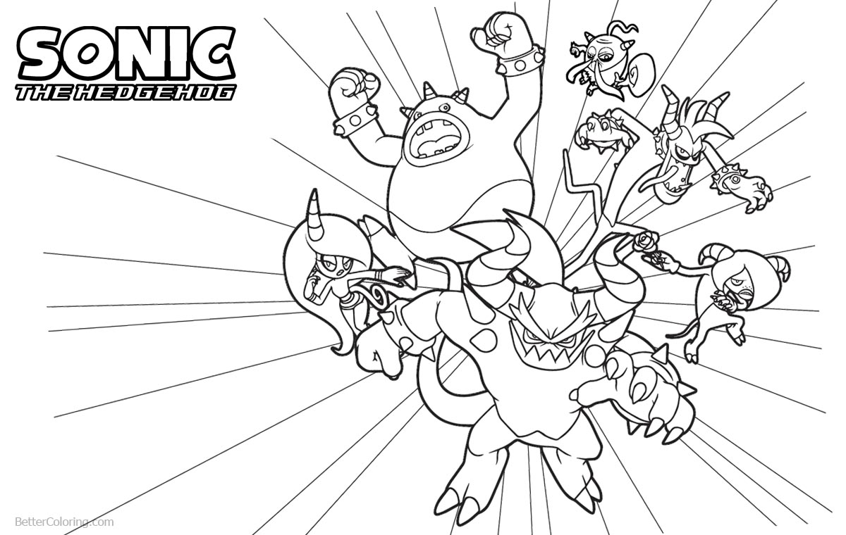 Sonic The Hedgehog Coloring Pages Sonic Lost World Characters printable for free