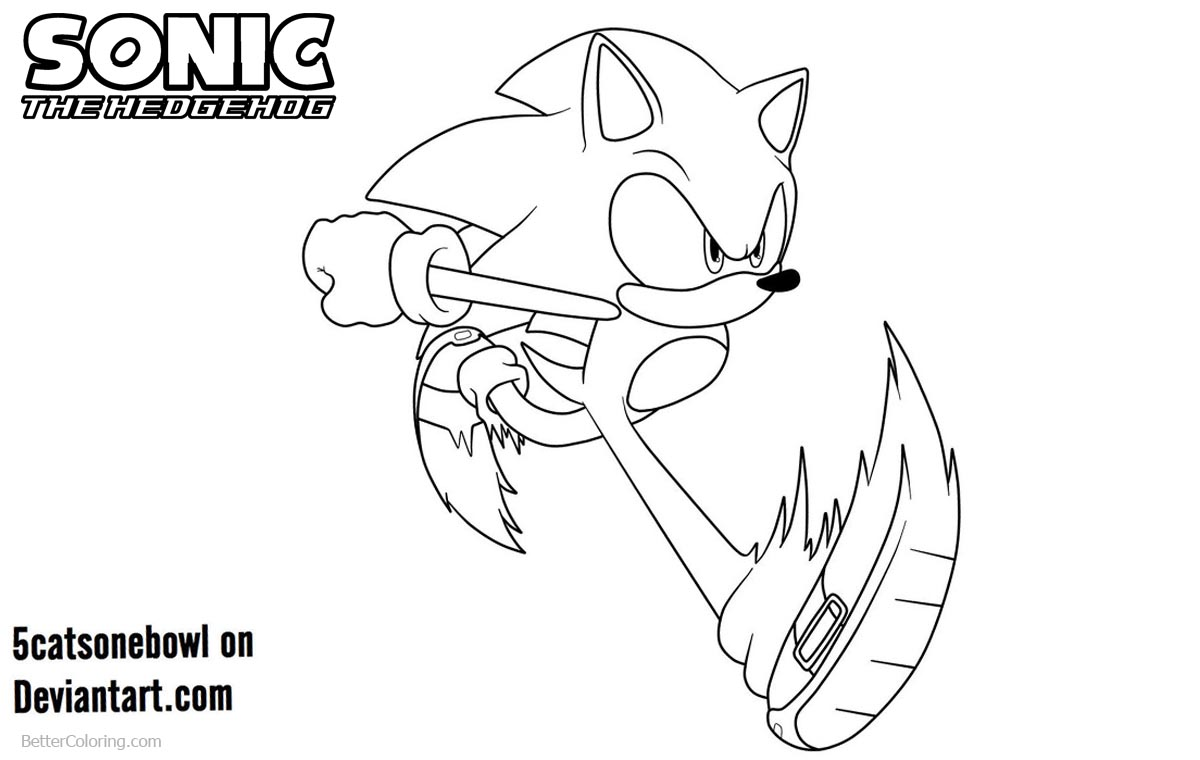 Sonic The Hedgehog Coloring Pages by 5catsonebowl printable for free