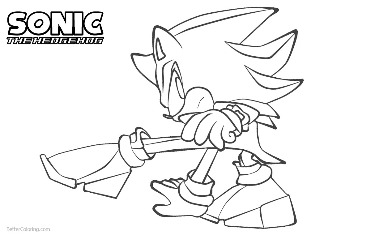 Sonic The Hedgehog Coloring Pages by cheesestick101 printable for free