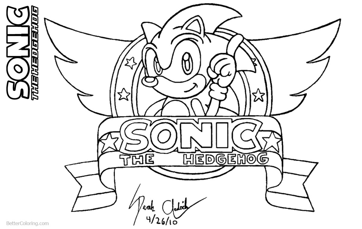 Sonic The Hedgehog Coloring Pages by derek the hedgehog87 printable for free