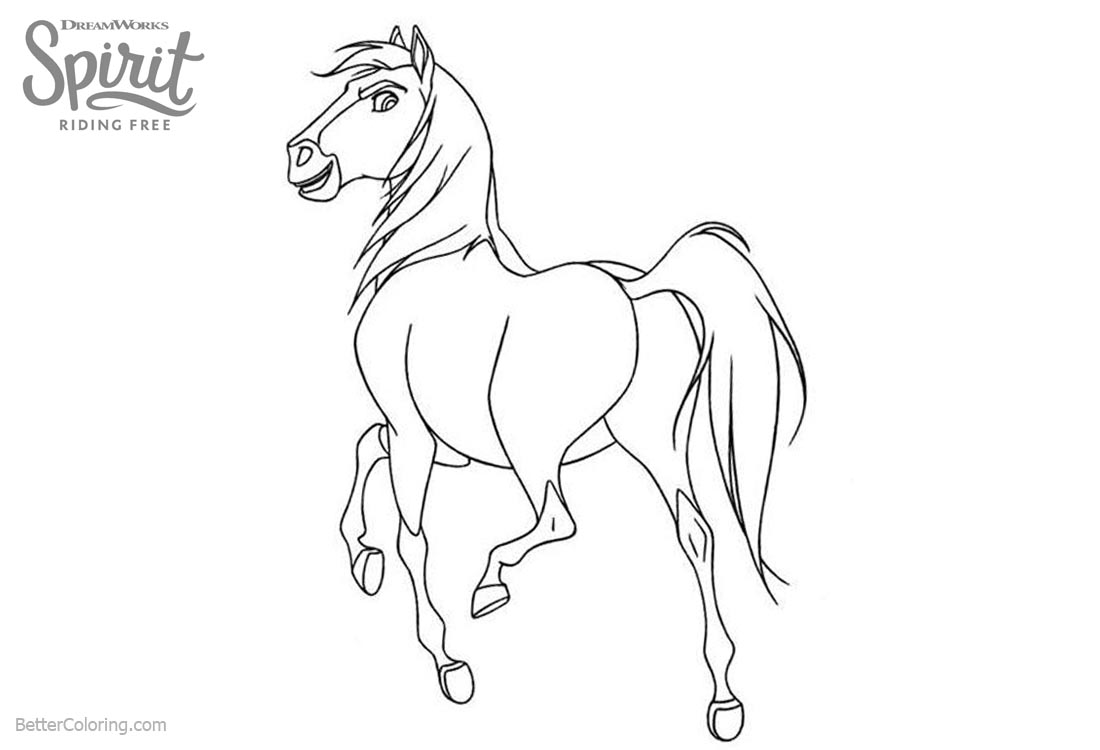 Spirit Riding Free Coloring Pages Horse Spirit printable for free