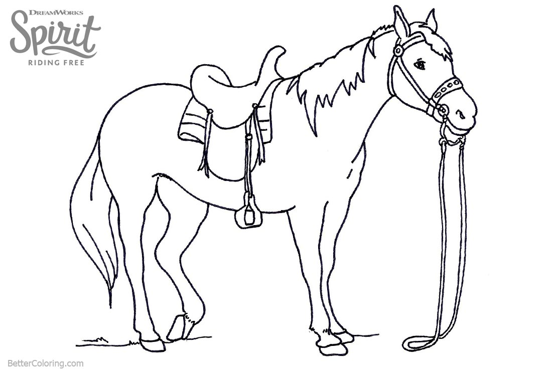 Spirit Riding Free Coloring Pages Lineart printable for free