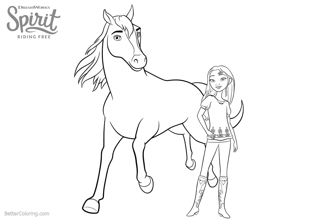 Spirit Riding Free Coloring Pages Lucky and Horse Spirit ...