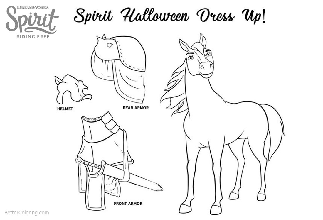 Spirit Riding Free Coloring Pages Spirit Halloween Dress Up Activity ...