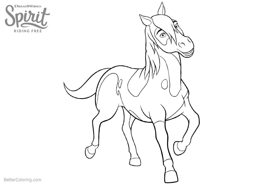 Spirit Riding Free Horse Coloring Pages Boomerang - Free Printable ...