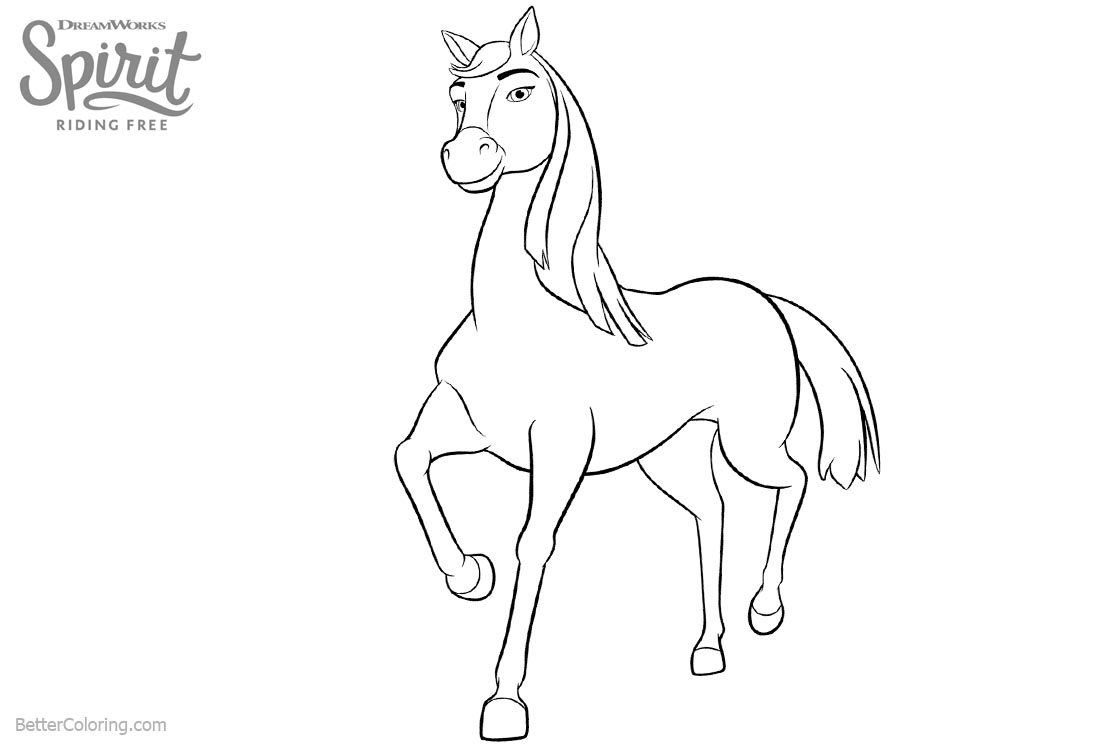 Spirit Riding Free Horse Coloring Pages Chica Linda printable for free