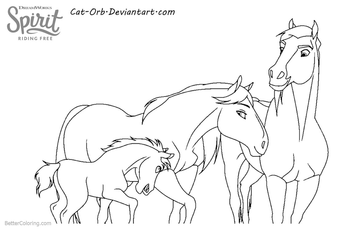 Spirit Riding Free Horse Coloring Pages printable for free