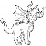 Spyro Coloring Pages by kaylathedragoness