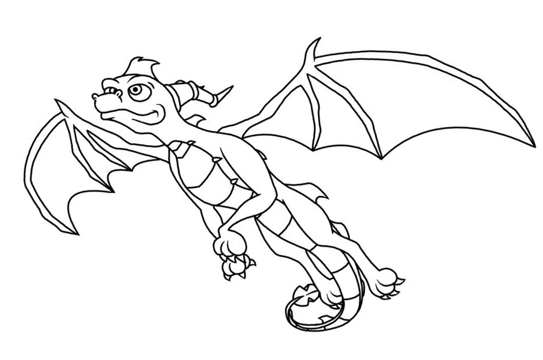 Spyro Coloring Pages by rainbowtech printable for free