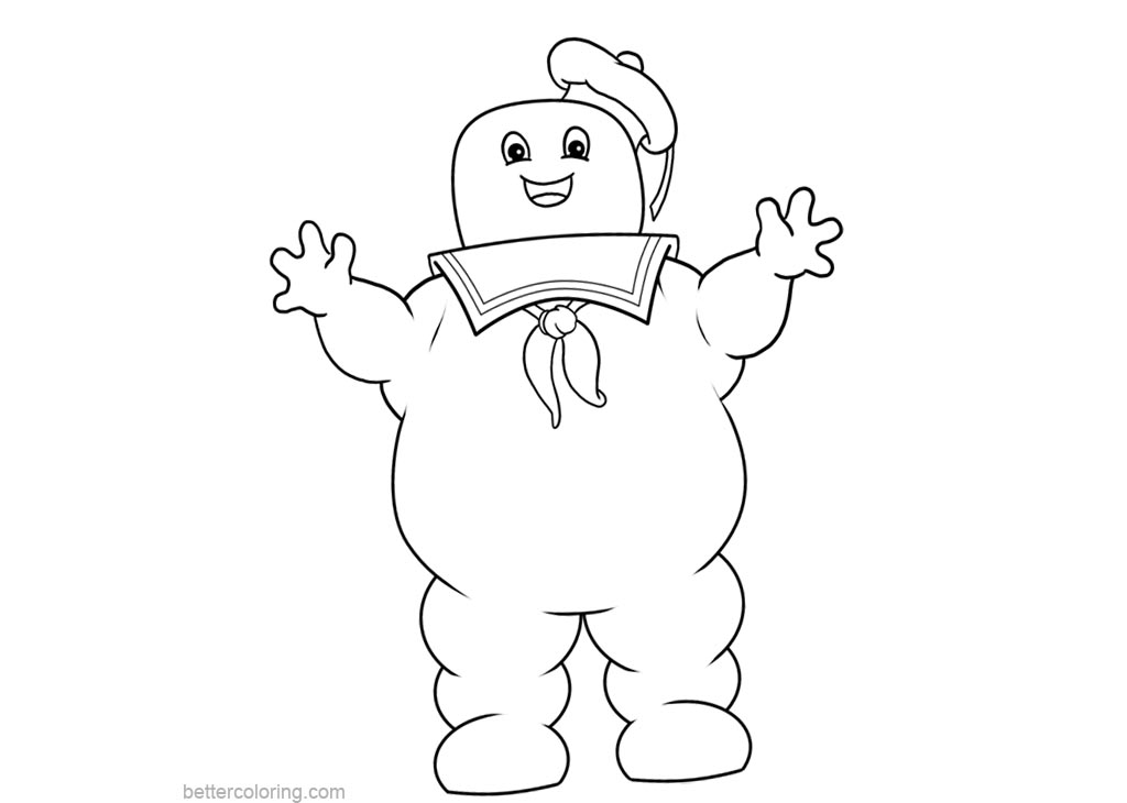 Free Stay Puft Marshmallow Man from Ghostbusters Coloring Pages printable
