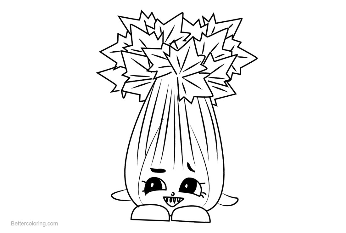 Super Celery Shopkins Coloring Pages Printable and Free - Free ...