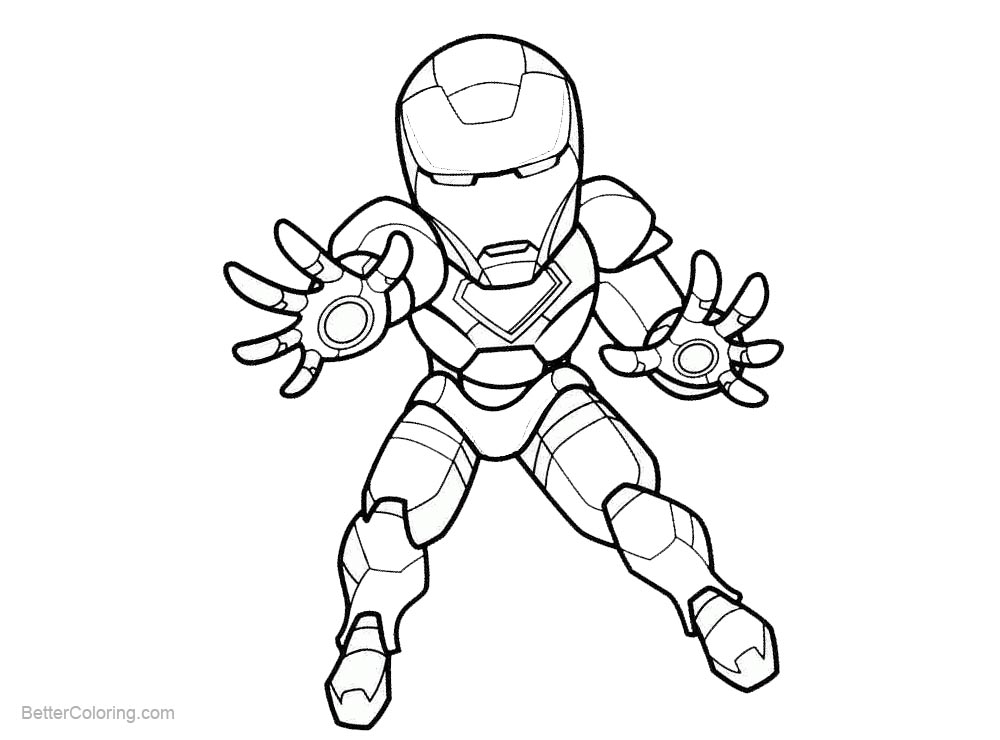 Superhero Chibi Iron Man Coloring Pages - Free Printable ...