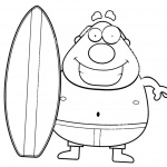Surfboard Coloring Pages Clipart