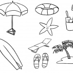 Surfboard Coloring Pages Summer Beach Life