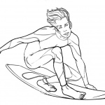 Surfboard Coloring Pages Summer Water Sports Surfing
