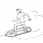 Surfboard Coloring Pages Surfing