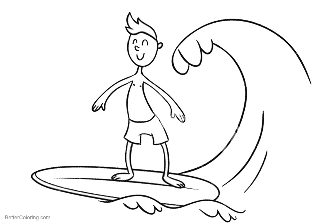 Surfboard Coloring Pages - Photos Coloring Page Ncsudan.Org