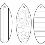 Surfboard Coloring Pages Three Surfboards Pattern
