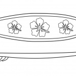 Surfboard Coloring Pages Top View and Side View