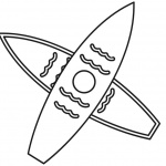 Surfboard Coloring Pages Two Surfboards