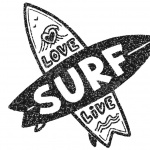 Surfboard Coloring Pages with Letters