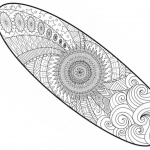 Surfboard Pattern Coloring Pages