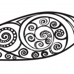 Surfboard Pattern Coloring Pages Black and White