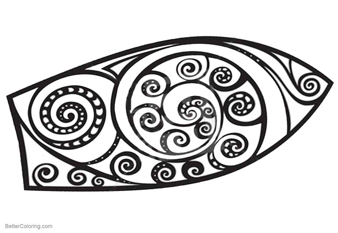 Surfboard Pattern Coloring Pages Black and White printable for free
